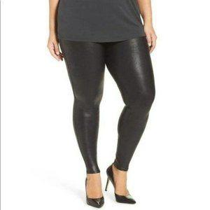 Spanx Plus Size Vegan Leather High Waist Legging